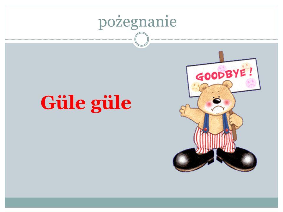 pożegnanie Güle güle