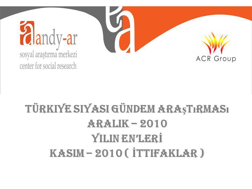 Türkiye Siyasi Gündem Ara ş t ı rmas ı ARALIK – 2010 YILIN ENLER İ KASIM – 2010 ( İ ttifaklar )