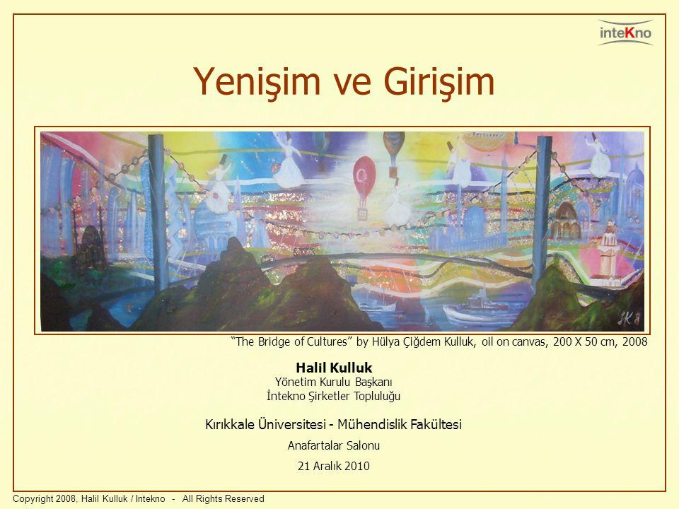 Yenişim ve Girişim Halil Kulluk Yönetim Kurulu Başkanı İntekno Şirketler Topluluğu Kırıkkale Üniversitesi - Mühendislik Fakültesi Anafartalar Salonu 2