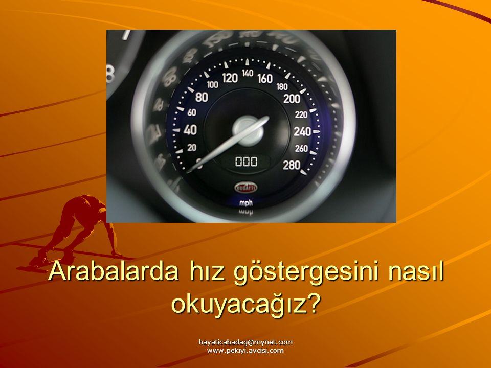 Arabalarda hız göstergesini nasıl okuyacağız?