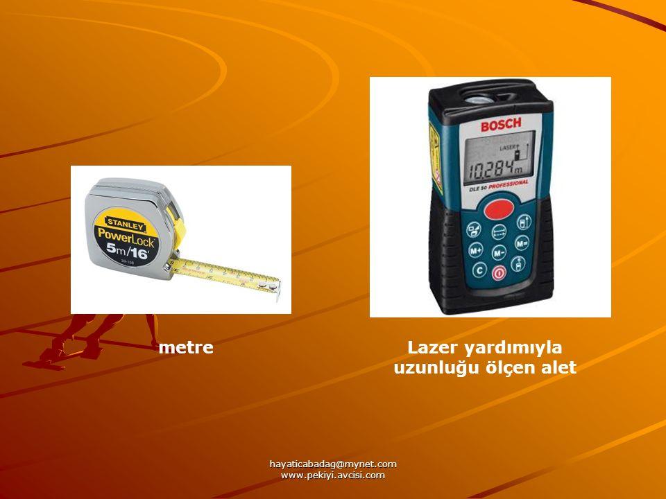 hayaticabadag@mynet.com www.pekiyi.avcisi.com Lazer yardımıyla uzunluğu ölçen alet metre