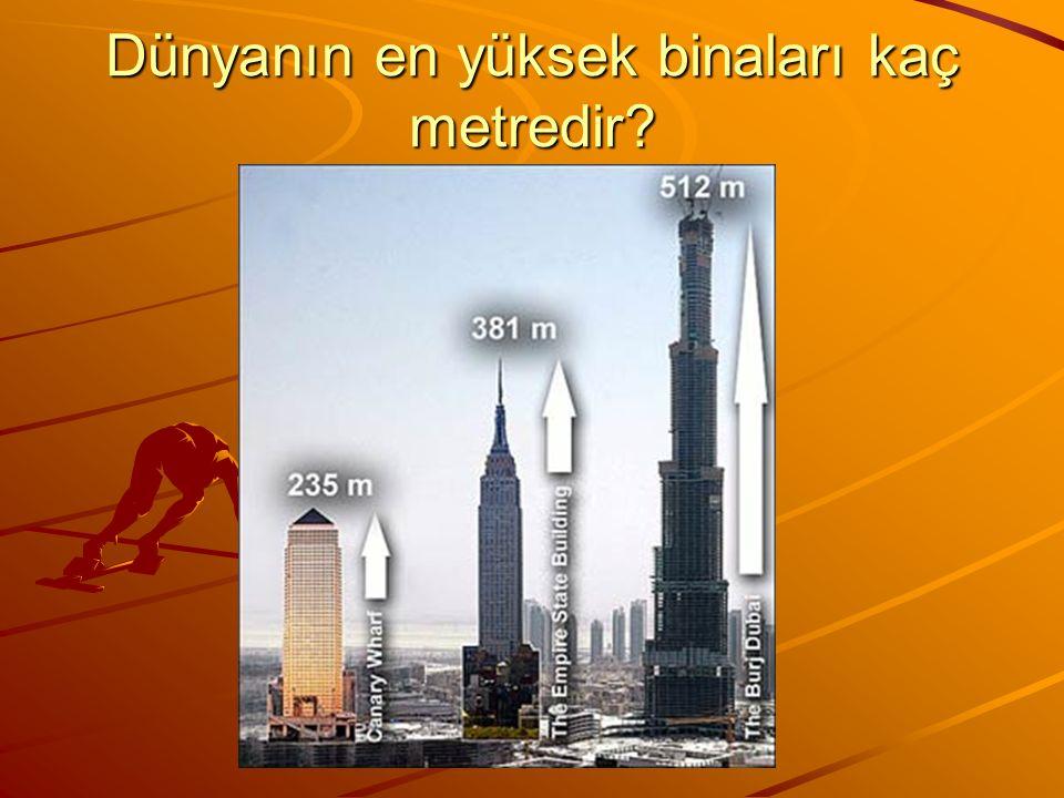 hayaticabadag@mynet.com www.pekiyi.avcisi.com Dünyanın en yüksek binaları kaç metredir?