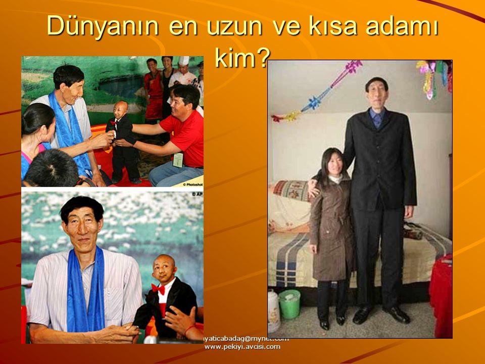 Dünyanın en uzun ve kısa adamı kim?