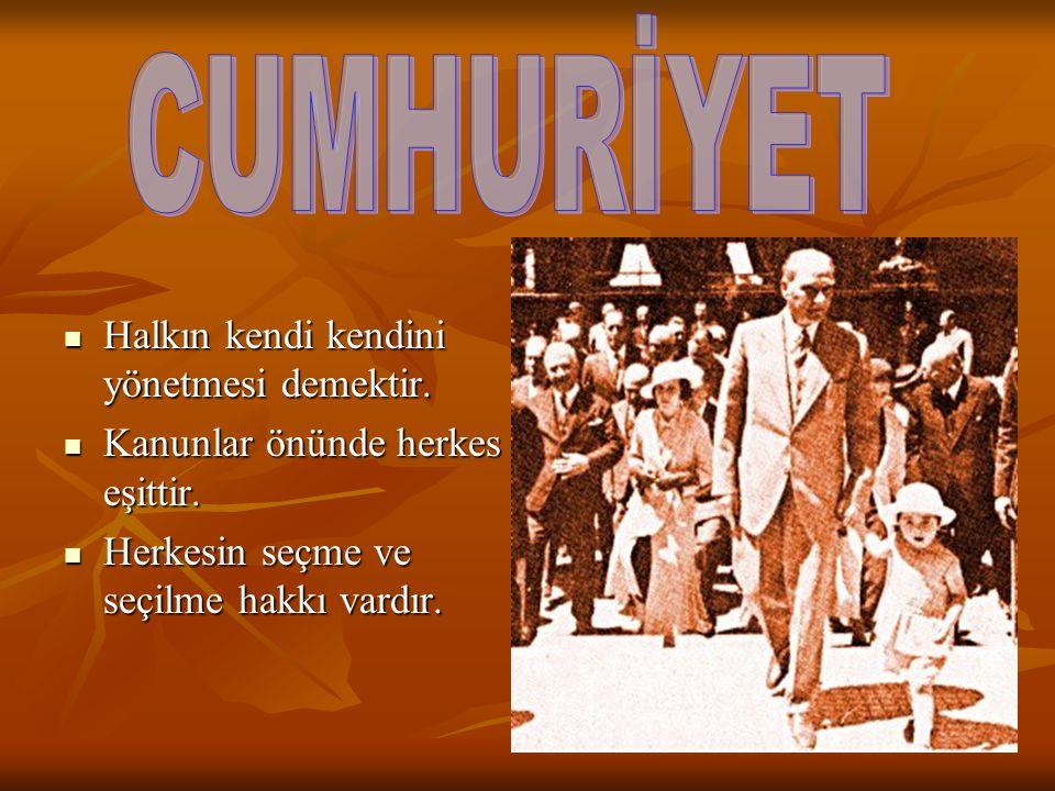29 Ekim 1923 te 29 Ekim 1923 te CUMHURİYET İLAN EDİLDİ CUMHURİYET İLAN EDİLDİ TÜRKİYE CUMHURİYETİ TÜRKİYE CUMHURİYETİ DEVLETİ KURULDU DEVLETİ KURULDU T.B.M.M Mustafa Kemal'i T.B.M.M Mustafa Kemal'i CUMHURBAŞKANI SEÇTİ CUMHURBAŞKANI SEÇTİ