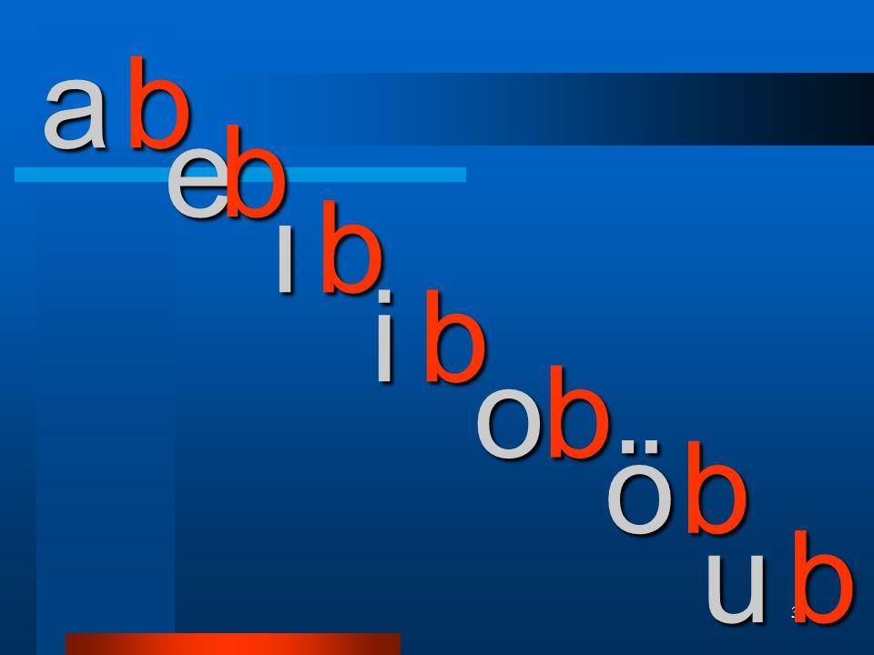 3 a e ı i o ö u b b b b b b b