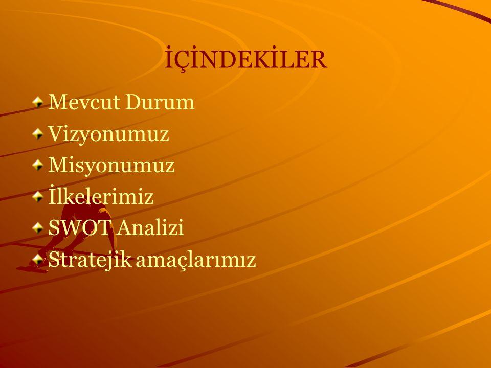 FIRSATLARIMIZ Eğitim-öğretimde uluslararası öğrenci değişim programlarında ülkemizin etkinliğinin yükselmesi Hızlı teknolojik gelişmeler ve iletişimdeki artış Değişik kaynakların destekleyebileceği projelerle bilimsel araştırma donanımının temini Türkiye'nin Avrupa Birliği'ne üyelik sürecinde, iyi yetişmiş mezunlarımız için yeni istihdam alanlarının oluşması