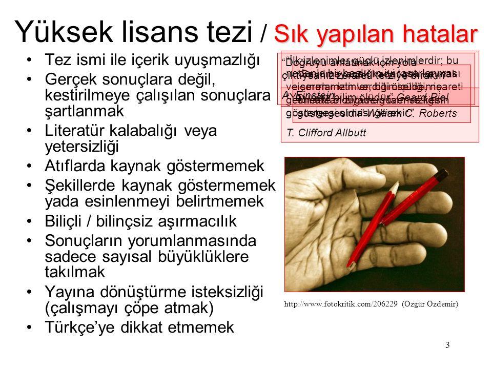 4 Örnekler Yüksek lisans tezim / Örnekler Kalıcılık kullanılabilirdi Öyle istiyorum ki, Türk Dili bilim yöntemleriyle kurallarını ortaya koysun ve her dalda yazı yazanlar bütün terimleriyle çoğunluğun anlayabileceği güzel, ahenkli dilimizi kullansınlar.