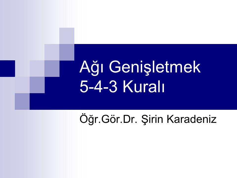 Ağı Genişletmek 5-4-3 Kuralı Öğr.Gör.Dr. Şirin Karadeniz