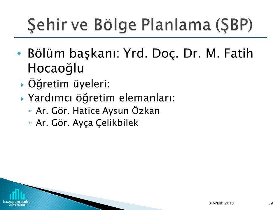 Bölüm başkanı: Yrd. Doç. Dr. M. Fatih Hocaoğlu  Öğretim üyeleri:  Yardımcı öğretim elemanları: ◦ Ar. Gör. Hatice Aysun Özkan ◦ Ar. Gör. Ayça Çelikbi