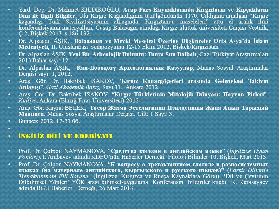 Yard. Doç. Dr. Mehmet KILDIROĞLU, Arap Fars Kaynaklarında Kırgızların ve Kıpçakların Dini ile İlgili Bilgiler, Ulu Kırgız Kağandıgının tüzülgöndünün 1