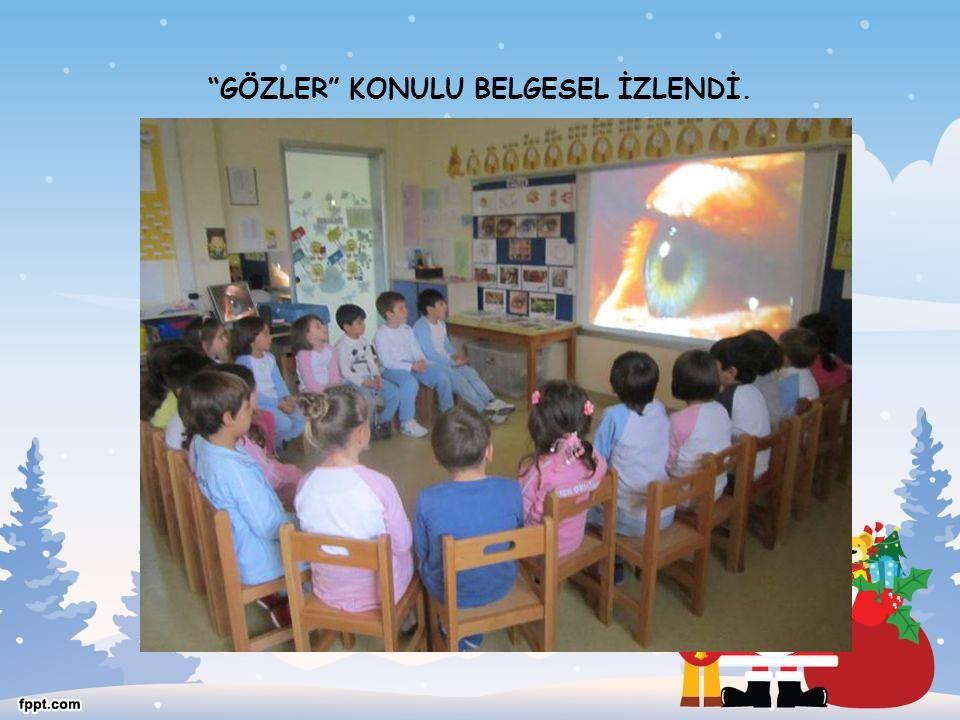 """""""GÖZLER"""" KONULU BELGESEL İZLENDİ."""