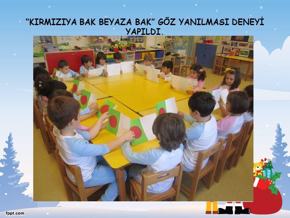 """""""KIRMIZIYA BAK BEYAZA BAK"""" GÖZ YANILMASI DENEYİ YAPILDI."""