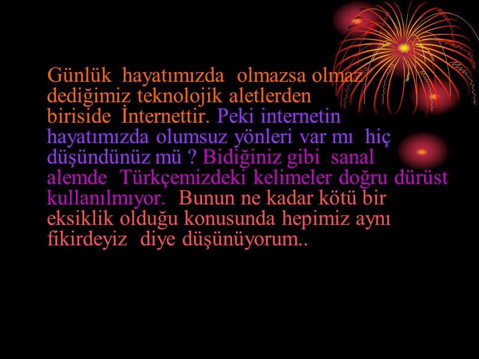 Türkçemizden utanmayalım !