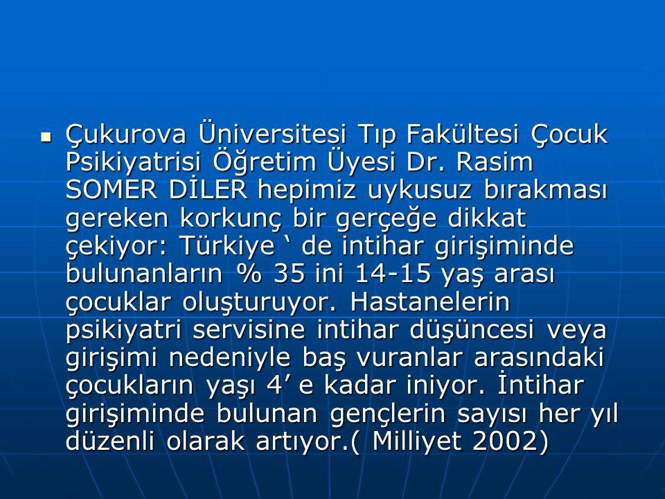 Çukurova Üniversitesi Tıp Fakültesi Çocuk Psikiyatrisi Öğretim Üyesi Dr. Rasim SOMER DİLER hepimiz uykusuz bırakması gereken korkunç bir gerçeğe dikka
