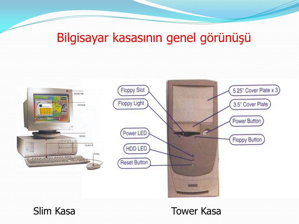 Bilgisayar kasasının genel görünüşü Slim KasaTower Kasa