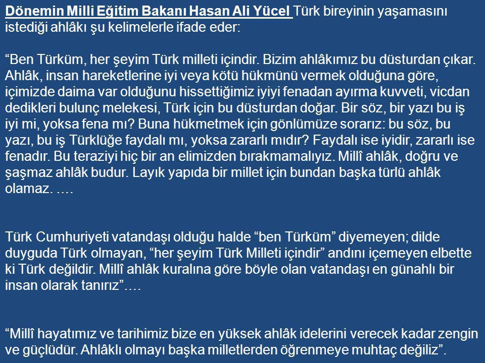 İnönü dönemi eğitim politikasını ikiye ayırmak mümkündür: 1-Türk Millî Eğitim Sistemi'nde Hümanizme Yöneliş Evresi 2-Türk Millî Eğitim Sisteminde Demokrasiye ve Dinî Değerlere Yöneliş Evresi.