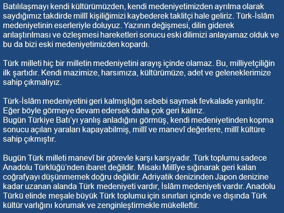 Cumhurbaşkanı olan Cevdet Sunay: Cumhurbaşkanı olan Cevdet Sunay: Bugüne kadar ki gözlemler gösteriyor ki medeniyet yarışında bizi geri bırakan kusurlarımız çalışmada gevşeklik; işlerimizde düzensizlik ve tutumdaki disiplinsizlik ile tevekkül dür.