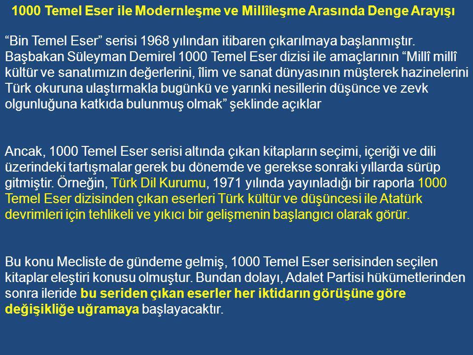 Kültürü ve eğitimi millî kılarsak Türkiye'yi bugünkü çalkantılardan kurtarabiliriz.