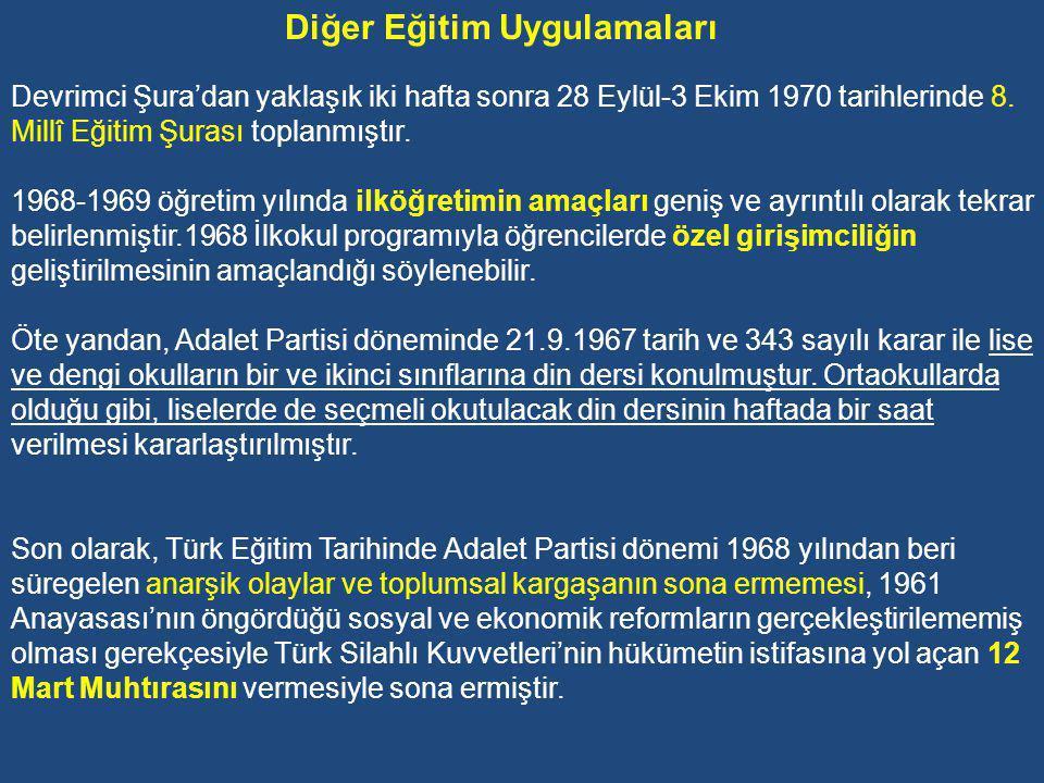 Devrimci Millî Eğitim Şurası Bilindiği gibi, 1968 yılı gerek Türkiye'de ve gerekse dünyanın bazı ülkelerinde toplumsal kargaşanın, anarşinin, kitlesel öğrenci eylemlerinin ve öğretmen boykotlarının hızla arttığı bir yıl oldu.