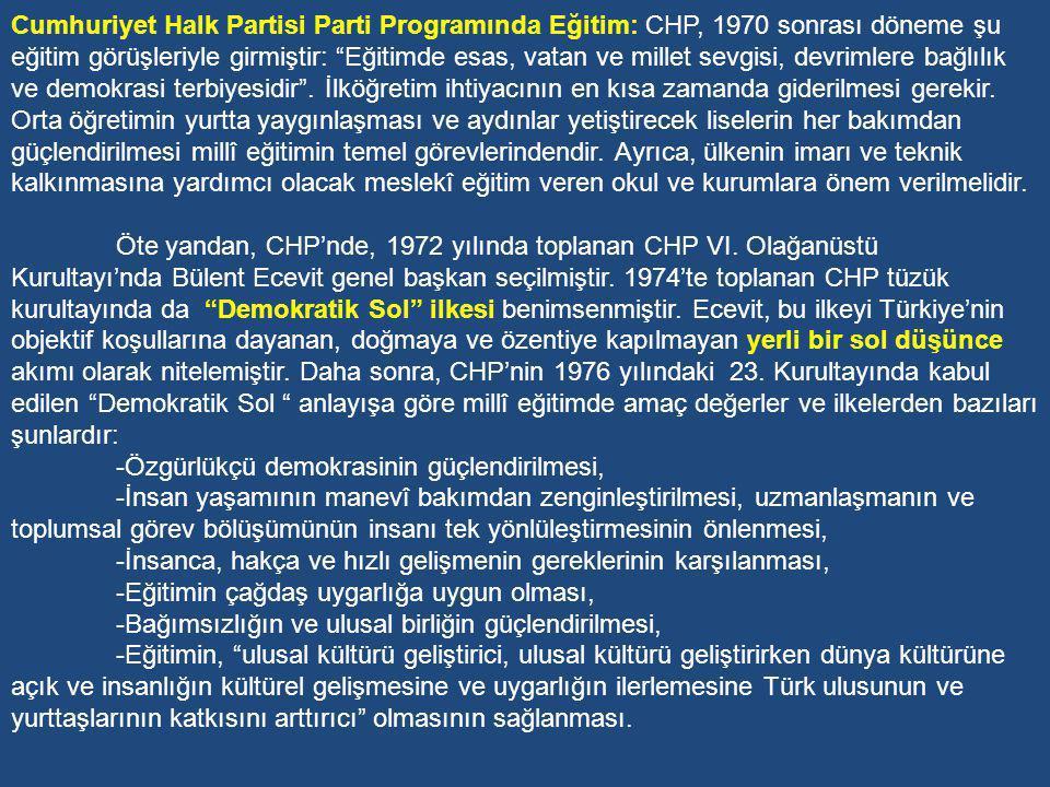 Geçen 50 yıllık zaman içerisinde Türkiye hâlâ millî eğitim ve kültür politikasını oturtamamıştır.