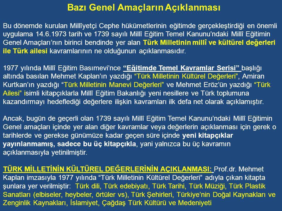 Okullara Ahlâk Derslerinin Konulması Bir yıla yakın bir zaman süren CHP-MSP Koalisyon hükümeti döneminde, 1974-75 Öğretim yılında ilkokul 4.