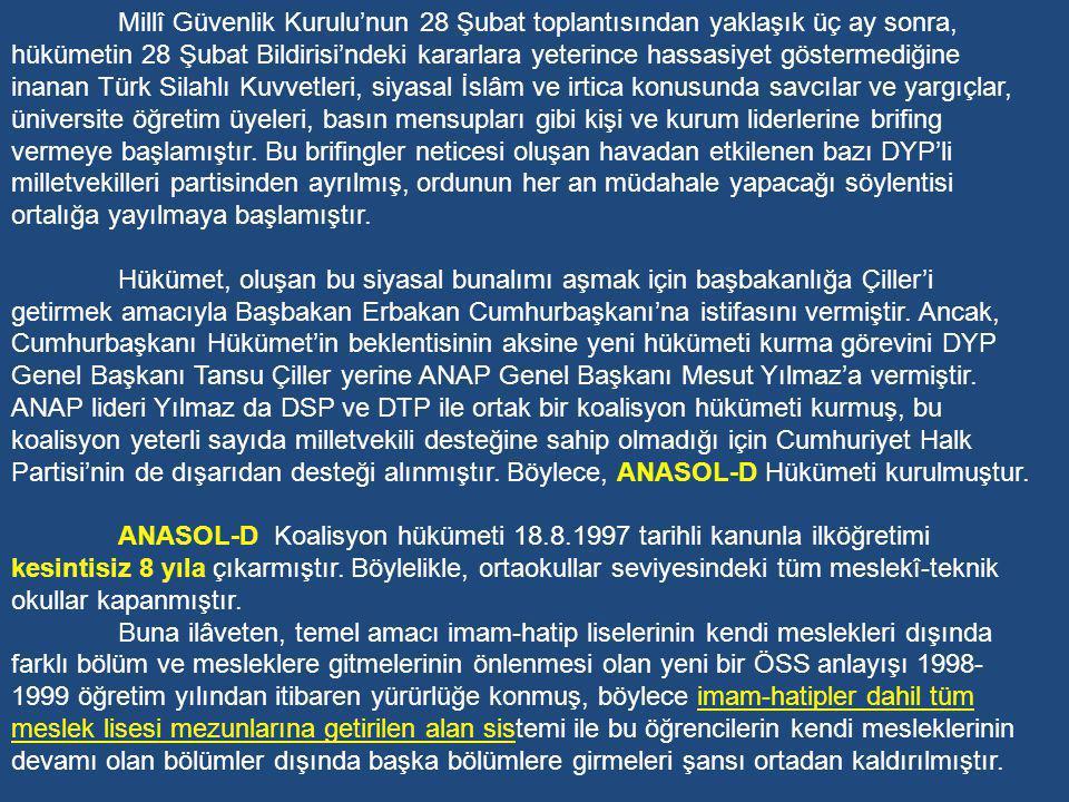 Refahyol iktidarıyla Türkiye'deki lâiklik anlayışı sık sık gündeme gelmiş, Türk toplumunun müslümanlık anlayışı ve din-devlet ilişkileri yoğun bir biçimde tartışılmış, sosyal ve siyasal alanda lâik-antilâik tartışmaları zaman zaman toplumda kutuplaşmalara neden olmuştur.