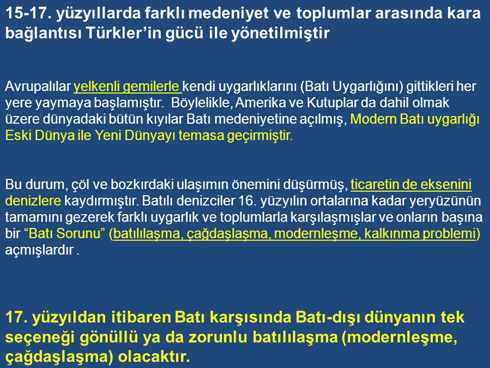 Toynbee'nin deyimiyle; «Osmanlı Devleti durdurulmuş bir medeniyettir.» HARİTAYA BAKINCA ŞUNLARI SÖYLEMEK MÜMKÜN…..
