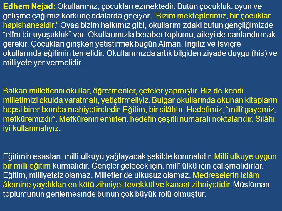 Karakter eğitimine vurgu yapan İsmail Hakkı Baltacıoğlu'na göre, Okullarımız, ailelerimiz çocuğun tabiatını bozuyorlar.