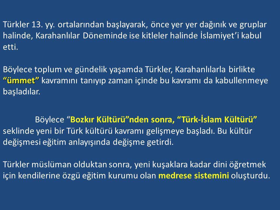 KARAHANLILAR DÖNEMİNDE EĞİTİM (840-1212) KARAHANLILAR DÖNEMİNDE EĞİTİM (840-1212) Karahanlılar, 840 - 1212 yılları arasında Orta Asya ve günümüz Doğu Türkistan toprakları üzerinde hüküm sürmüş Türk devletidir.