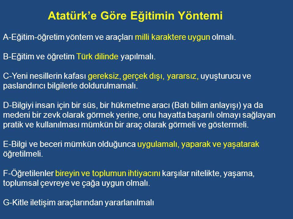 H-Türk Müziğinin Geliştirilmesi: Atatürk, milletin kültür bakımından çağdaş yeniliklere uyumunda müzikteki değişiklikleri kavramasının ve Türk müziğinin hak ettiği yere gelmesinin önemine değinerek şunları söyler: Bugün dinletilmeğe yeltenilen musiki, yüz ağartacak değerde olmaktan uzaktır.