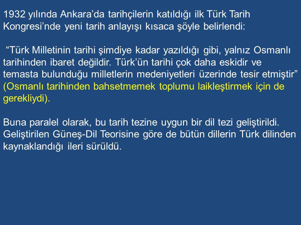 Millî kültürün kaynaklarının millî tarihte ve dilde yattığını düşünen Atatürk bu kaynaklardan elde edilecek değerlerle yeni nesillerin ruh ve bilincinin beslenmesini istemiştir.