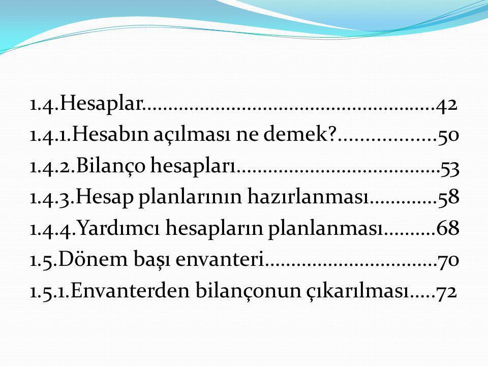 11.VERİLEN DEPOZİTO VE TEMİNATLAR HESABI İşletme 3.