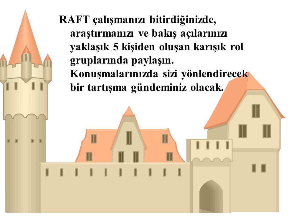 RAFT çalışmanızı bitirdiğinizde, araştırmanızı ve bakış açılarınızı yaklaşık 5 kişiden oluşan karışık rol gruplarında paylaşın.