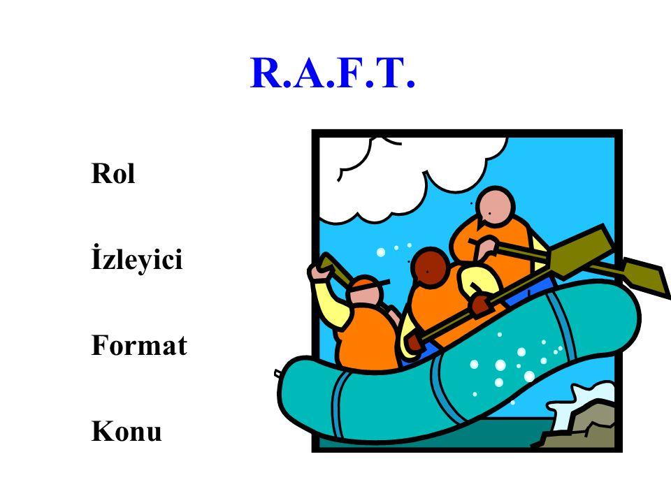 R.A.F.T. Rol İzleyici Format Konu