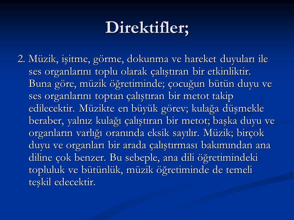 Direktifler; 2.