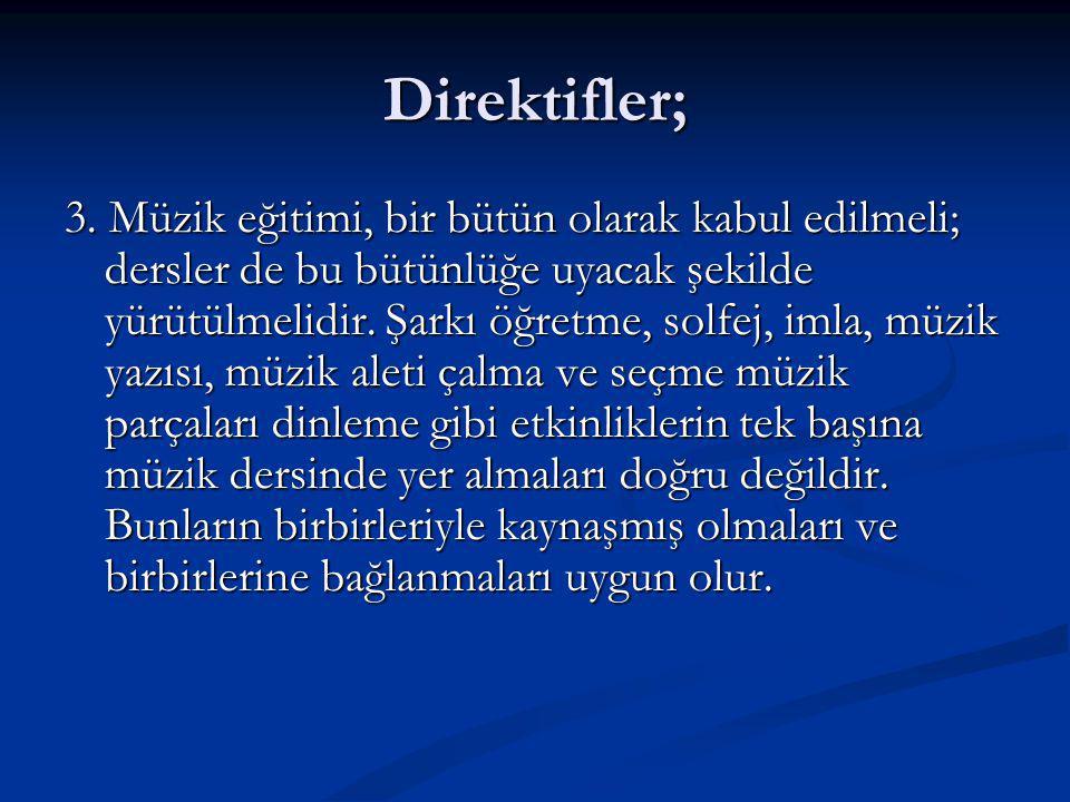 Direktifler; 3.