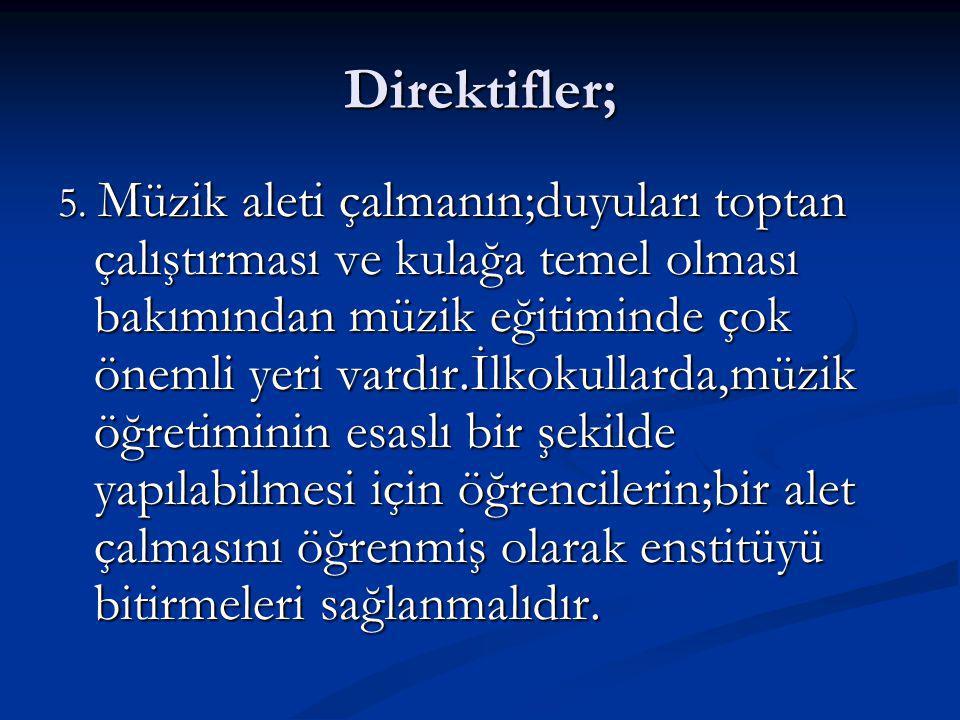 Direktifler; 5.