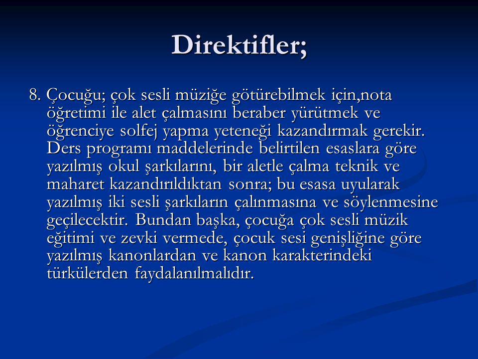 Direktifler; 8.