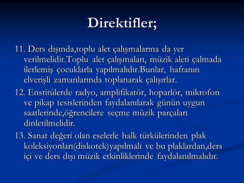 Direktifler; 11.