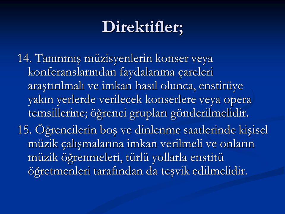 Direktifler; 14.
