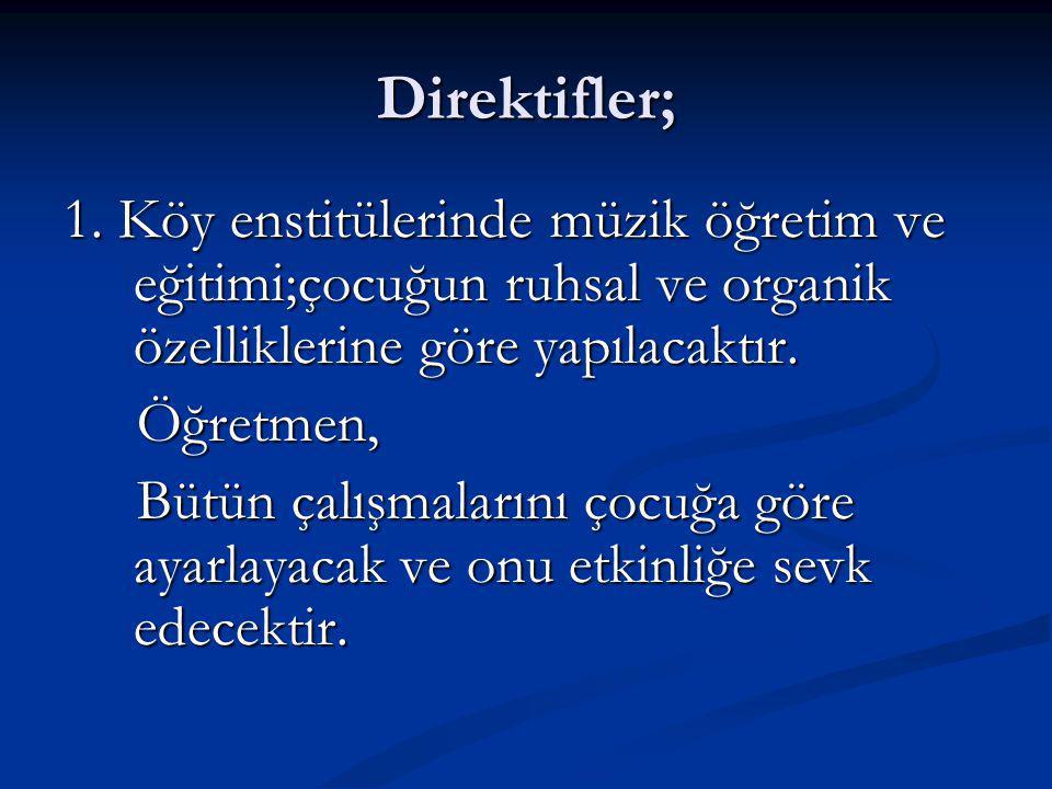 Direktifler; 1.
