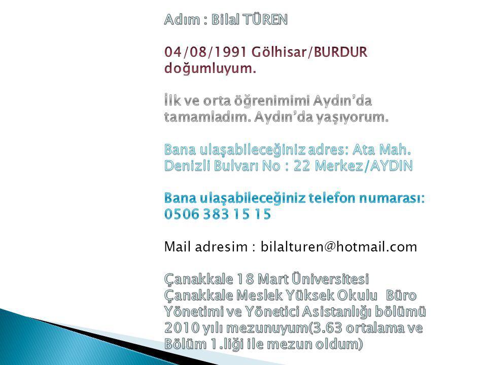 Uluslararası Prestije sahip olan Fullbright bursunu 2010 yılında Türkiye'de kazanan 20 öğrenciden birisi oldum.