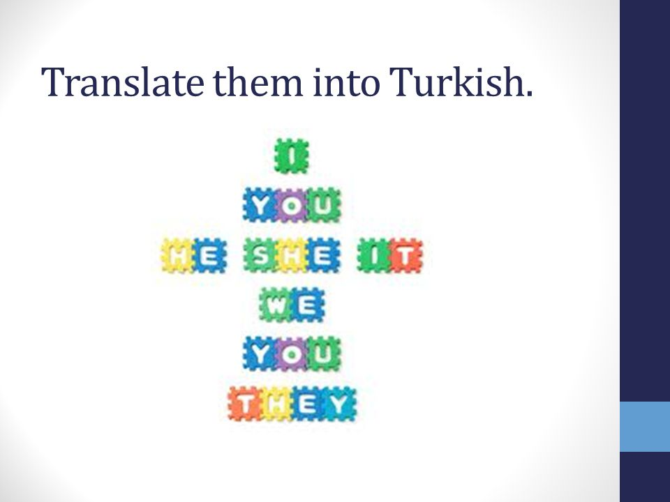 Translate them into Turkish.