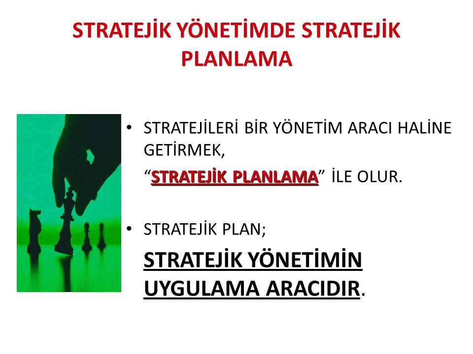 """STRATEJİK YÖNETİMDE STRATEJİK PLANLAMA STRATEJİLERİ BİR YÖNETİM ARACI HALİNE GETİRMEK, STRATEJİK PLANLAMA """"STRATEJİK PLANLAMA"""" İLE OLUR. STRATEJİK PLA"""