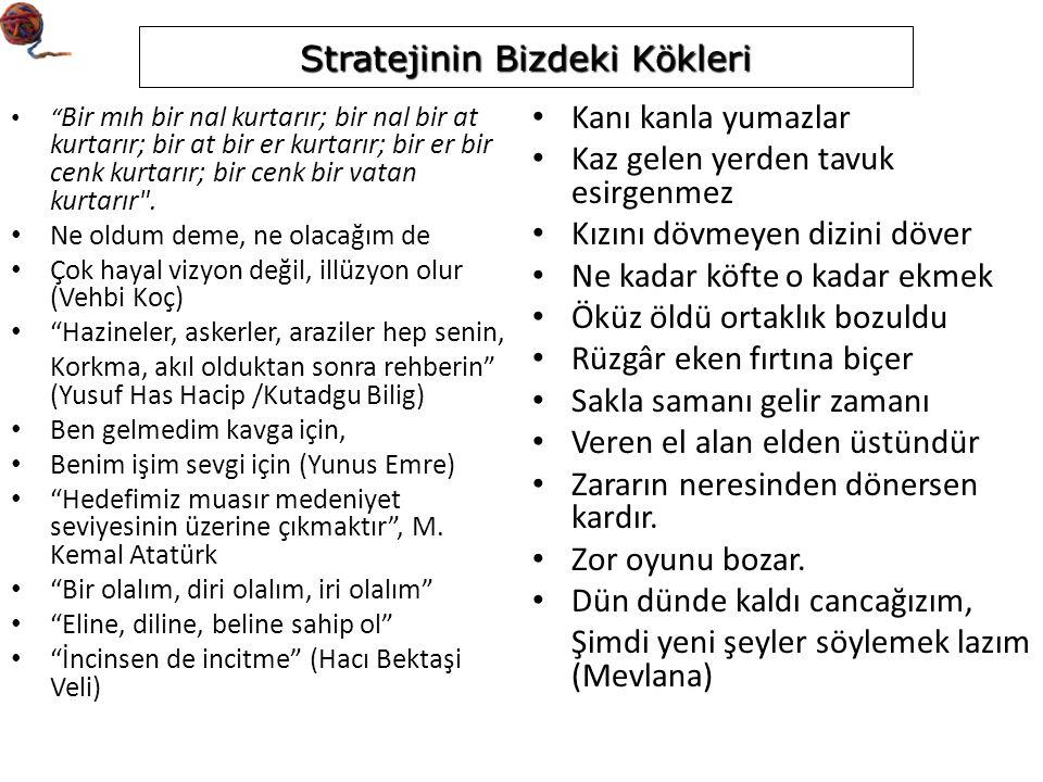Stratejik Amaç (odak alanlar dikkate alınır) – Örnek Dünyada tanınan bir araştırma üniversitesi olmak ve bu durumu sürdürmek