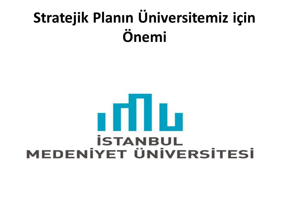 Stratejik Planın Üniversitemiz için Önemi