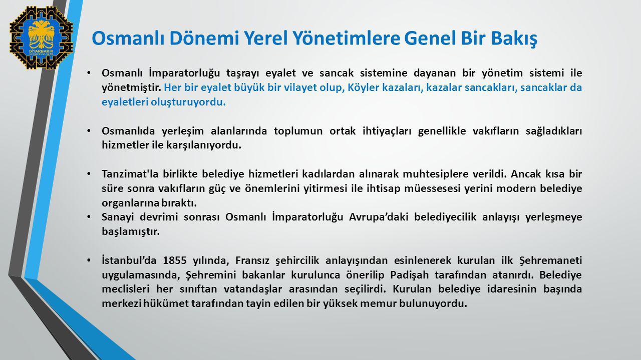 Osmanlı İmparatorluğu taşrayı eyalet ve sancak sistemine dayanan bir yönetim sistemi ile yönetmiştir. Her bir eyalet büyük bir vilayet olup, Köyler ka