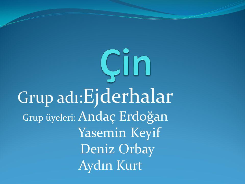 Grup adı: Ejderhalar Grup üyeleri: Andaç Erdoğan Yasemin Keyif Deniz Orbay Aydın Kurt