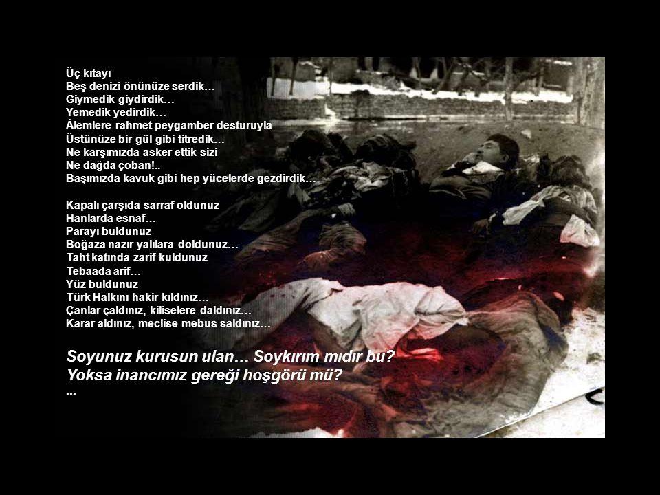 Biz değil miydik Ayağınız kaydığında elinizi tutan… Değil miydik; hastalandığınızda yanınızda yatan… Biz değil miydik ah!..