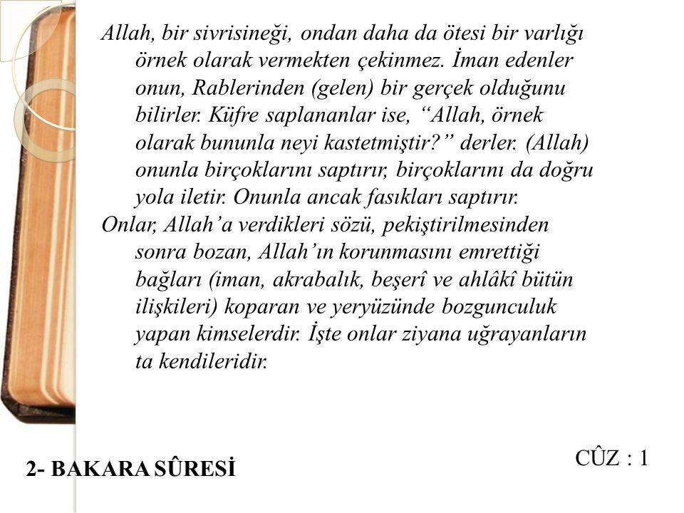 Eğer kulumuza (Muhammed'e) indirdiğimiz (Kur'an) hakkında şüphede iseniz, haydin onun benzeri bir sûre getirin ve eğer doğru söyleyenler iseniz, Allah